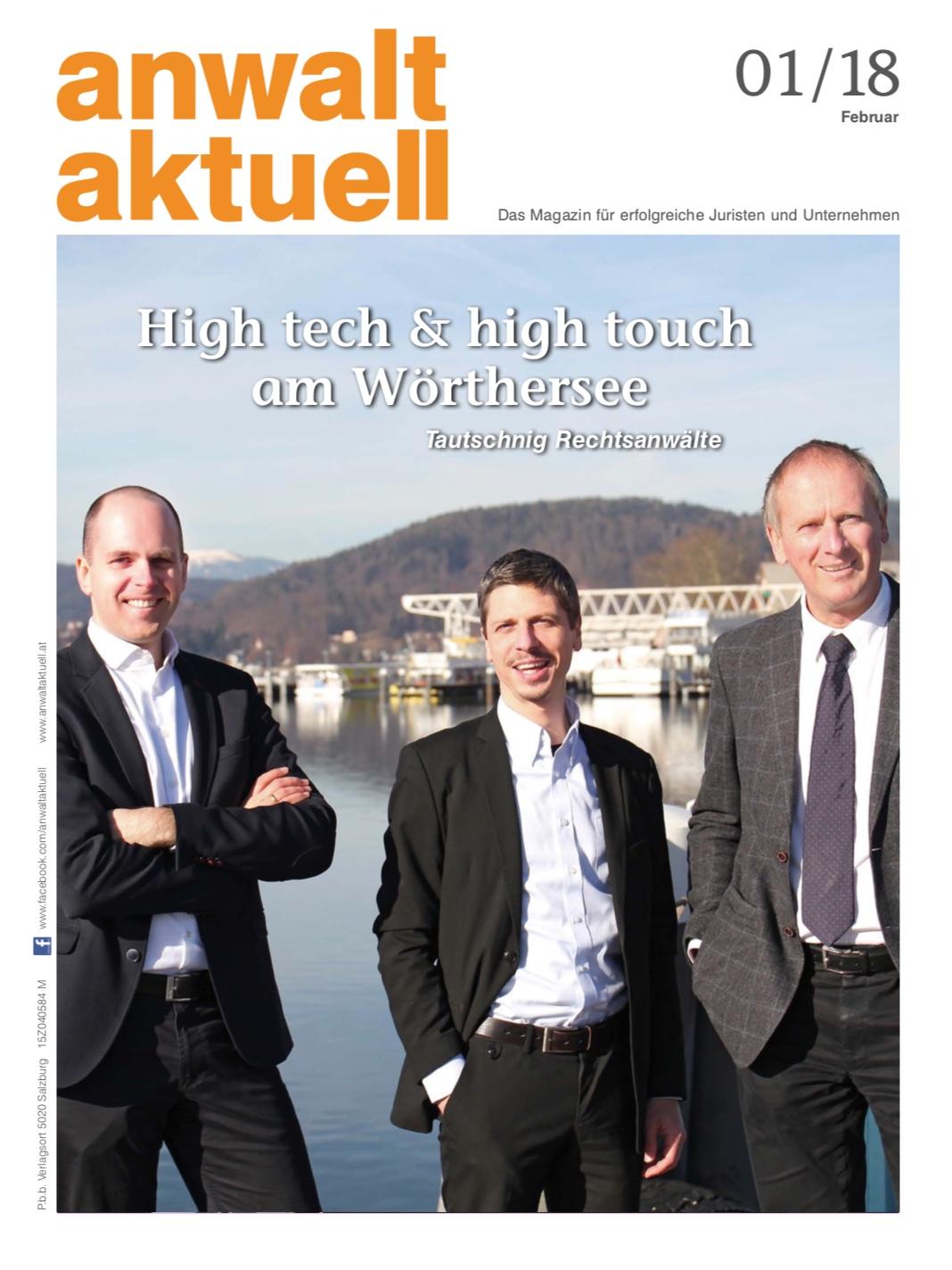 Cover Anwalt Aktuell 1/2018